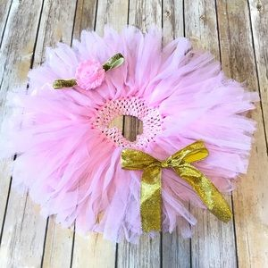 Other - Pink & Gold Girl 12m Tutu